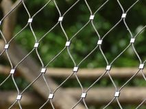 Fence in zoo in augsburg in bavaria. In germany. In spring royalty free stock image