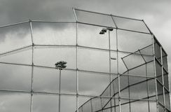 Fenced baseball diamond Royalty Free Stock Photo