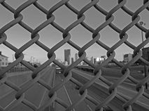 Fenced in City Stock Image