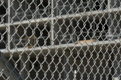 Fenced Construction Site Royalty Free Stock Photo