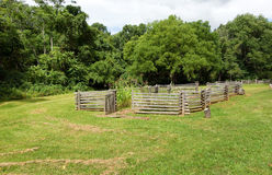 A fenced farm on display in virginia Royalty Free Stock Image