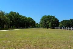 Fenced field Stock Photo