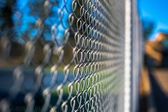 Fenced Out Stock Photo