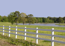 The Fenced in Pasture Stock Images