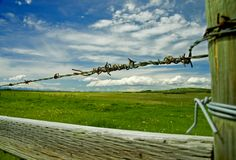 Fenced Pasture Royalty Free Stock Images