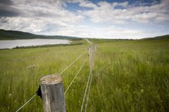 Fenceline Royalty Free Stock Photos