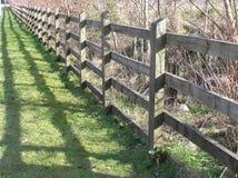 Fenceline Cienie Obrazy Stock