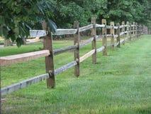 Fenceline van het land Royalty-vrije Stock Fotografie