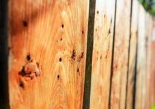 Fenceon de madera la calle Fotografía de archivo