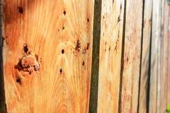 Fenceon de madera la calle Fotografía de archivo libre de regalías