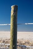 Fencepost Hoarfrost Royalty Free Stock Images