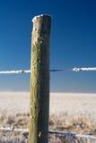 fencepostrimfrost Royaltyfria Bilder