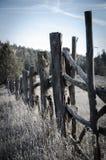Fenceposts στην έρημο Στοκ Φωτογραφία