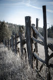 Fenceposts in the desert Stock Photography