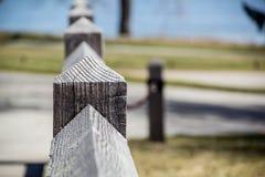 Fenceposttextuur en diepte van gebied Royalty-vrije Stock Foto's