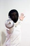 мужчина fencer Стоковая Фотография