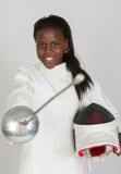 Fencer athlete Royalty Free Stock Photography