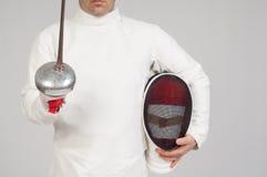 Fencer athlete royalty free stock photo