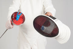 Fencer athlete Stock Image