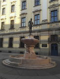 Fencer-Fountain at University in Wroclaw, Poland Stock Image