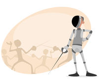 Fencer with rapier Royalty Free Stock Photo
