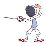 Fencer with rapier Royalty Free Stock Image
