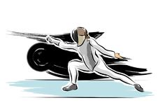 Fencer. A vector illustration of a fencer Royalty Free Stock Photo