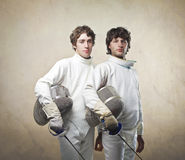 Fencers Stock Photo