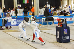 Fencers at Italian Championships Royalty Free Stock Images