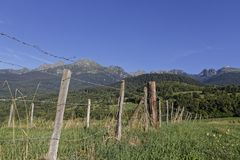 Fences in Belledonne mountain range Royalty Free Stock Photography