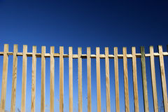 Fences in blue Royalty Free Stock Photos