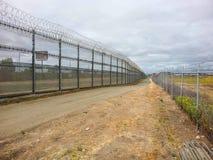 Fences dividing Tijuana and San Ysidro (San Diego), California Royalty Free Stock Photos