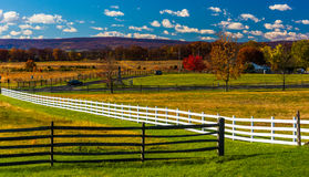 Fences and fields in Gettysburg, Pennsylvania. Stock Images