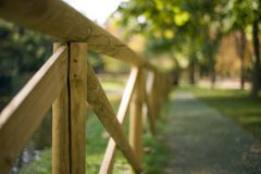 Fences in a green Park Stock Photos