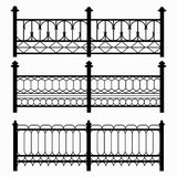 Fences isolated black symbols collection Royalty Free Stock Photos