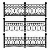 Fences isolated black symbols Royalty Free Stock Photos