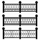 Fences isolated symbols collection Stock Images