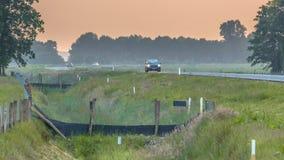 Free Fences Leading To Wildlife Culvert Stock Image - 99603441