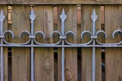 fences in outdoor vintage garden park on summer sunny day royalty free stock images