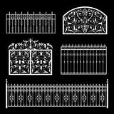 Fences silhouette Royalty Free Stock Images