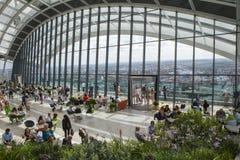 20 Fenchurch街的天空庭院在伦敦 免版税库存照片