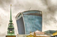 20 Fenchurch街,亦称携带无线电话塔,伦敦 库存图片