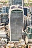20 Fenchurch街,亦称携带无线电话塔,伦敦 图库摄影