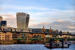 20 Fenchurch-de bouw van de Straatwalkie-talkie - Londen, het UK Stock Afbeelding