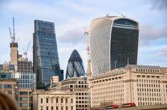 20 Fenchurch-de bouw van de Straatwalkie-talkie - Londen, het UK Royalty-vrije Stock Afbeeldingen