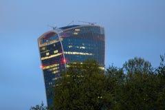 20 Fenchurch Straßenwolkenkratzer nachts Lizenzfreie Stockfotografie