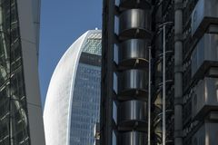 20 Fenchurch-Straat Londen van Lloyds-de bouw Stock Afbeelding