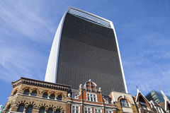 20 Fenchurch-Straatwolkenkrabber (de Walkie-talkiebouw) Stock Foto's