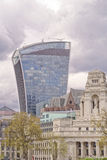 20 Fenchurch Street, aka The Walkie-Talkie, London. Image taken of 20 Fenchurch Street, aka The Walkie-Talkie, designed by architect Rafael Vinoly with classic Royalty Free Stock Image