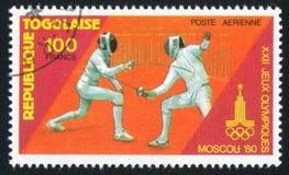 fencing stock afbeelding